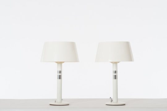 modern Lightolier table lamp pair