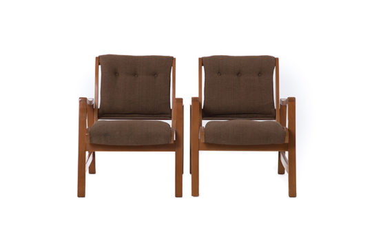 Danish Modern Jens Risom Lounge Chairs (set of 2)