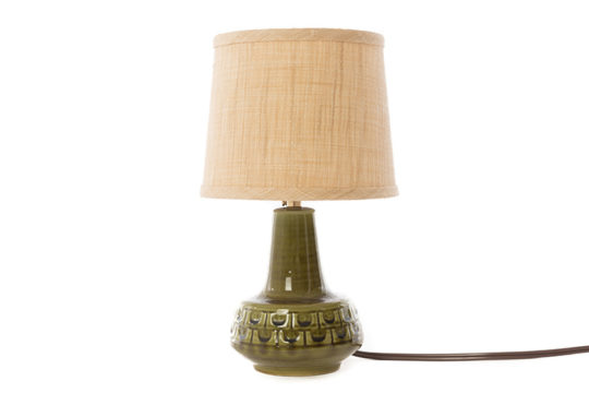 danish modern petite textured green table lamp