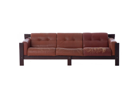 brazilian modern rosewood sofa by Percival Lafer